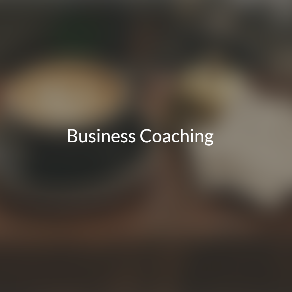 Coaching for business owners and staff members