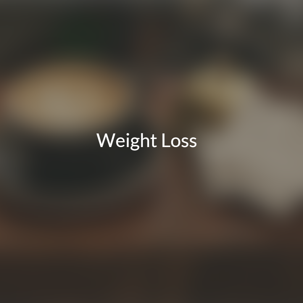 Weight Loss Help